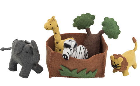 Felted Safari Playset