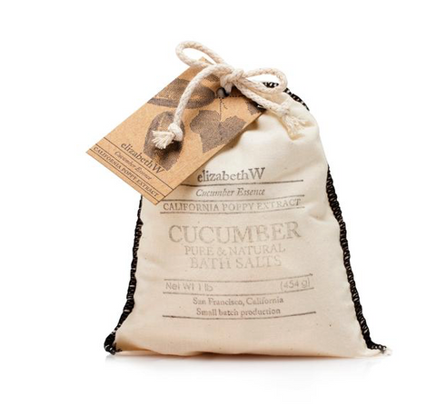 elizabethW Cucumber Bath Salts in Bag