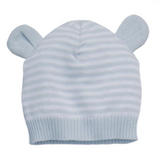 Striped Knit Hat with Ears