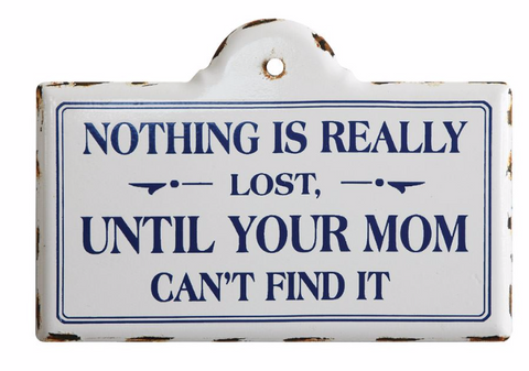 """Nothing is Really Lost..."" Enameled Metal Wall Decor"