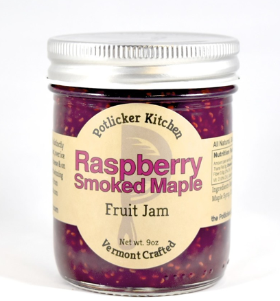 Potlicker Kitchen Raspberry Smoked Maple Jam