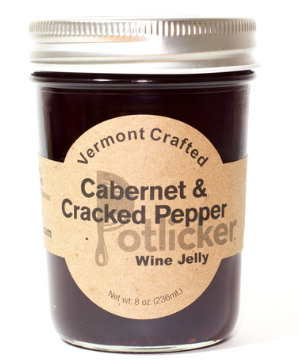 Potlicker Kitchen Cabernet & Cracked Pepper Wine Jelly