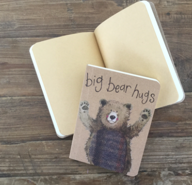 Big Bear Hugs Kraft Notebook