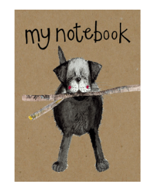 Black Lab Notebook Kraft Notebook