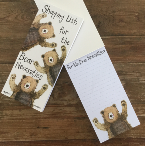 Bear Necessities Magnetic List Pad