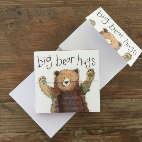 Bear Hugs Mini Magnetic Notepad