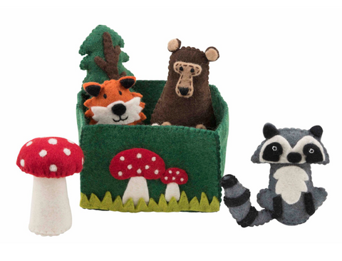 Felted Woodlands Playset