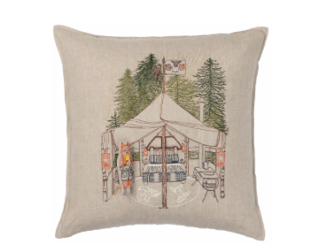 Camper Fox Pocket Pillow