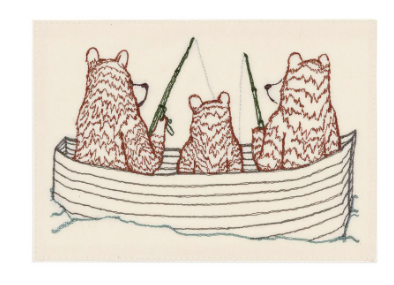 Bear Family Fishing Card