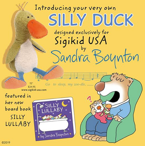 Sandra Boynton Signed Silly Lullaby Book and Silly Duck Stuffy Pre-Order