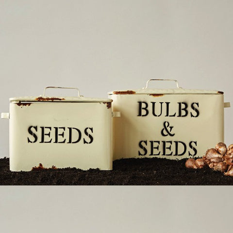 Decorative Metal Seed Boxes with Lid