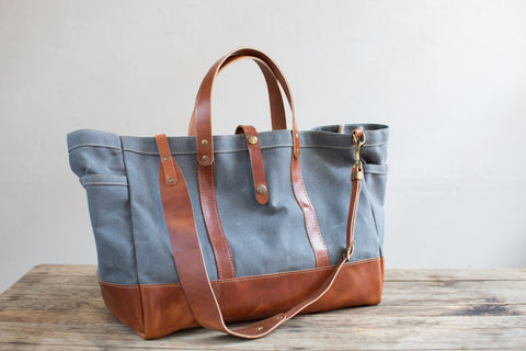 Weekender Tote with Leather Strap