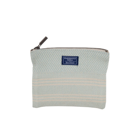 Beacon Stripe Small Zip Pouch