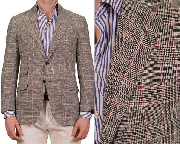 Sartorio Napoli by Kiton Gray Cotton Alpaca wool slim fit jacket