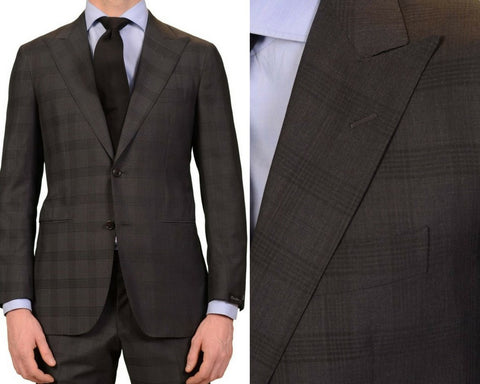 plaid wool mohair suits made by hand