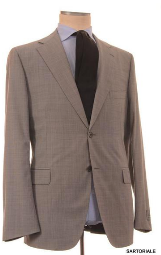 Gray wool suit by Belvest