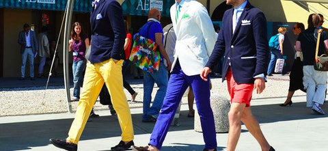 Colourful summer trousers for men_Tommy Ton for GQ