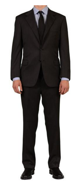Brioni dark gray business suit