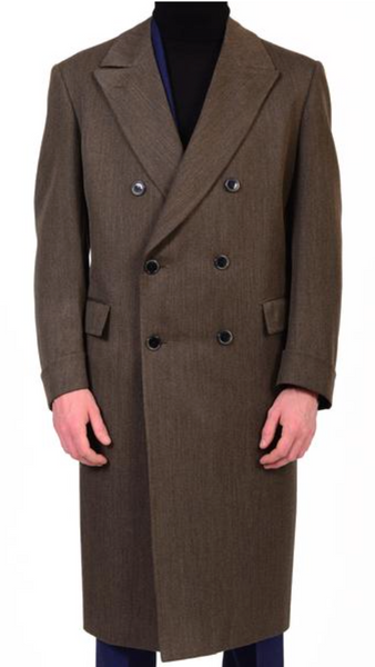 Double breasted polo coat by Brioni