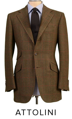 CESARE ATTOLINI TWEED SUIT