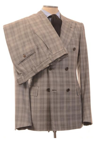 Plaid gray suit by Chiaia Napoli
