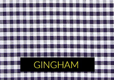 Gingham check fabric pattern in menswear