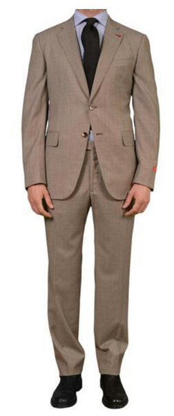 Gray business suit in Birdseye cloth by Isaia Napoli
