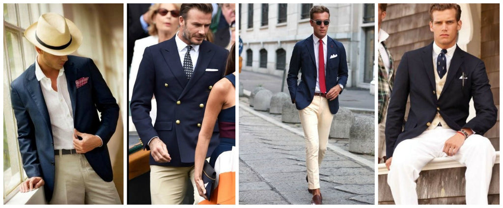 What to wear with a navy blazer