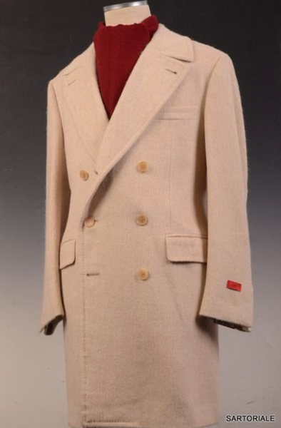 Polo Overcoat in beige by Isaia Napoli