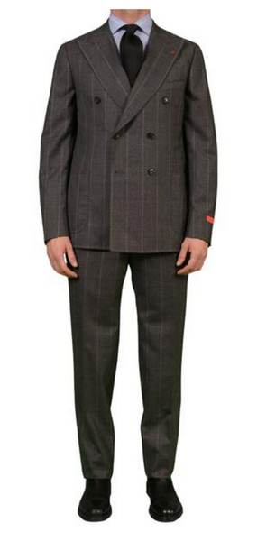 Isaia Napoli chalkstripe suit in gray