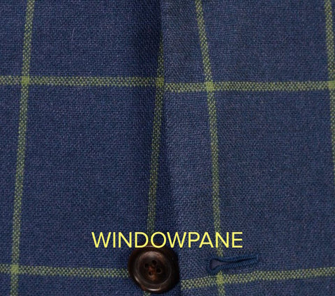 Windowpane fabric pattern in menswear