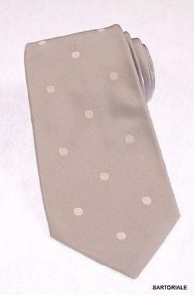 Gray polka dot silk tie by Kiton