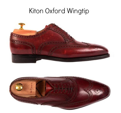 Oxford Dress shoes hand made in Italy by Kiton
