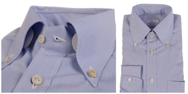 Kiton button down shirt in sky blue