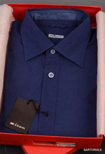 Navy Blue shirt by Kiton Napoli