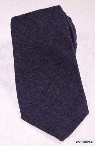 Navy blue silk tie for men from Kiton