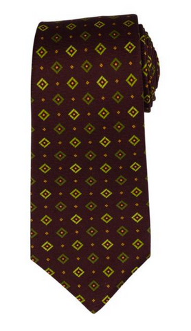 Kiton seven fold tie in brown