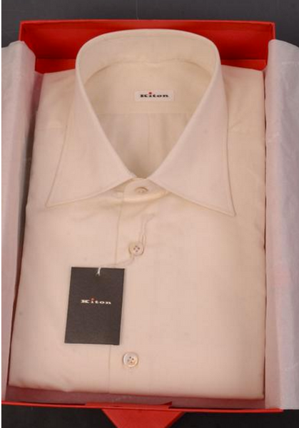 Kiton white fitted shirt