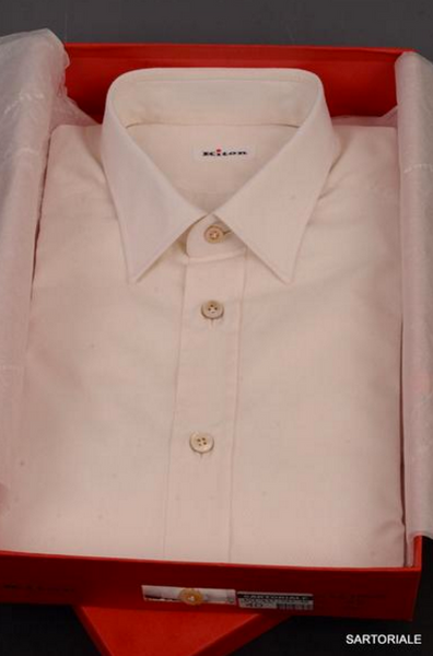 White cotton fitted shirt by Kitom