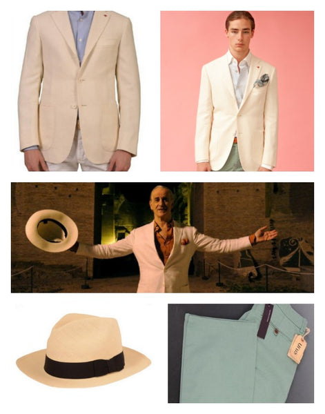 Isaia white jacket from La Grande Bellezza