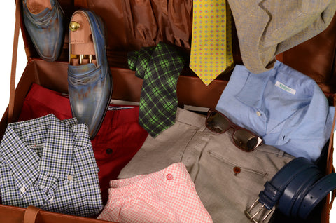 Menswear Weekend suitcase with Kiton Rubinacci and Sartoria Chiaia