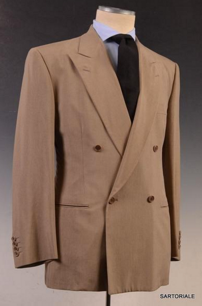 Rubinacci Taupe double breasted business suit