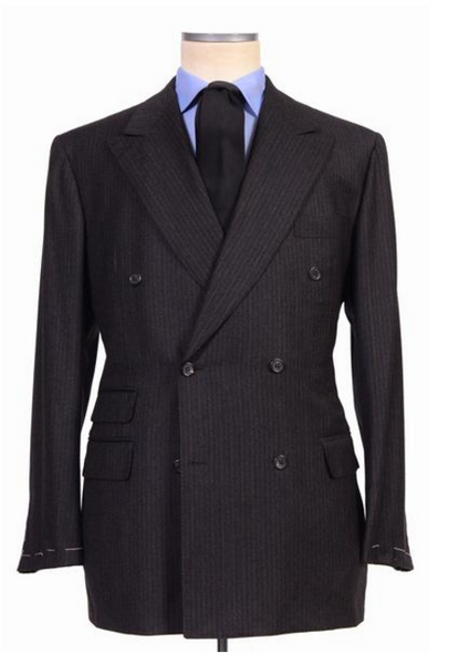 Rubinacci dark gray wool suit