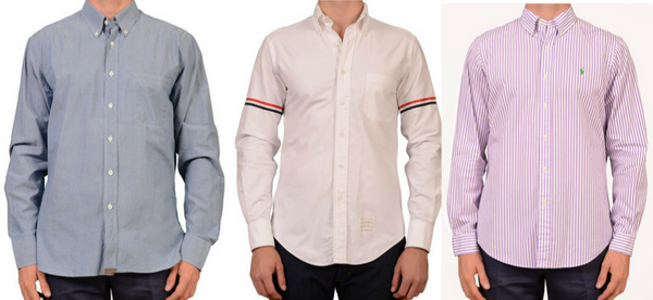 Men's shirts by Italian designers and Ralph Lauren