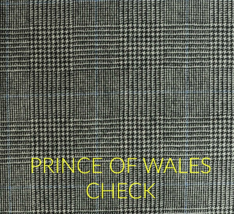 Prince of Wales check fabric pattern