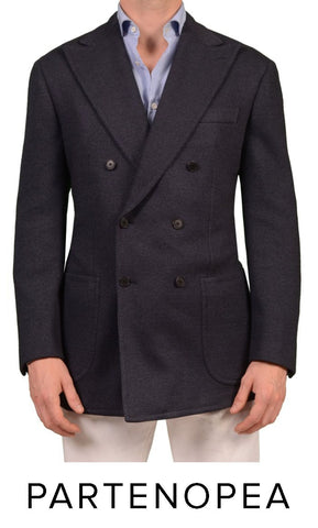 Double breasted sartoria partenopea blazer