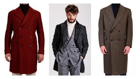 Double breasted overcoat for men by luxury Italian tailors: Belvest, Brioni, Sartoria Partenopea, Isaia and more