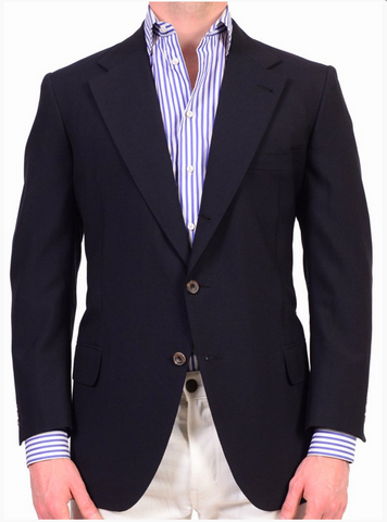 Navy blue sports coat by Rubinacci