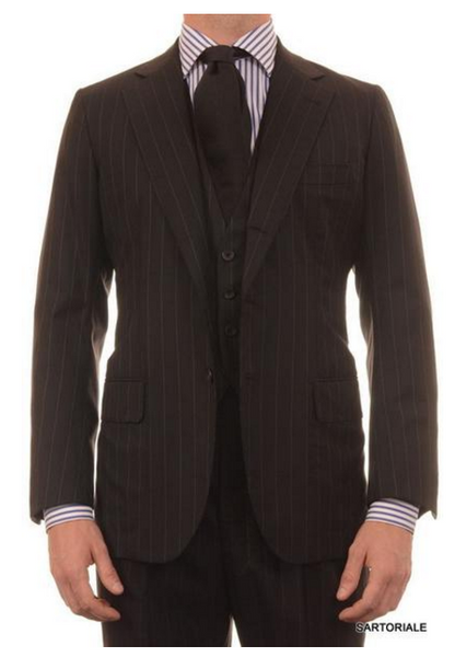 3-piece black suit for men by Rubinacci