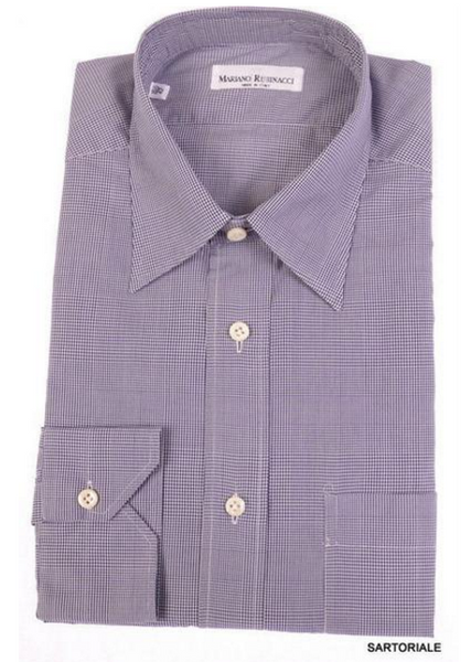 Rubinacci blue cotton dress shirt
